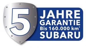 Subaru 5 Jahre Garantie